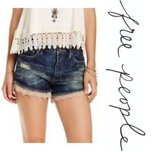Free People Lacey Denim Cutoff Jean Shorts